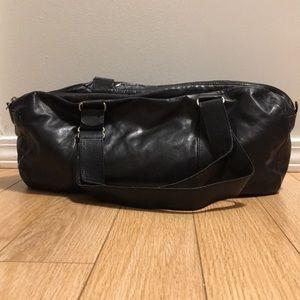 Vintage M0851 Black Italian Calfskin Tennis Bag